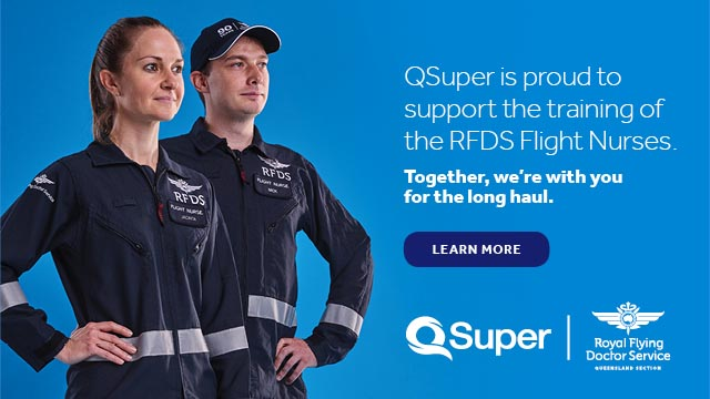 QSuper is proud to support the training of the RFDS Flight Nurses.