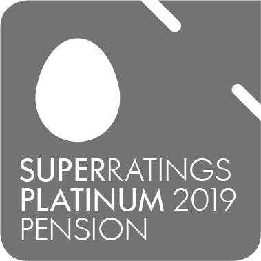 Super Ratings - Platinum pension rating 2019 - awarded to QSuper Fund