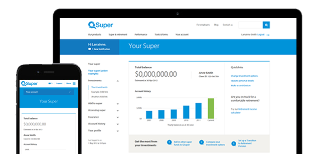Member Online features and benefits   QSuper Superannuation Fund